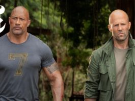 A poster is shared by The Rock for 'Hobbs & Shaw'