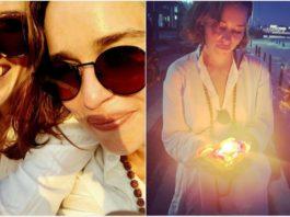 GOT's Emilia Clark and Rose Leslie Are In India