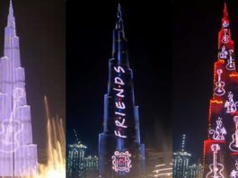 Burj Khalifa Celebrates 25 Years Of F.R.I.E.N.D.S In The Most Iconic Way