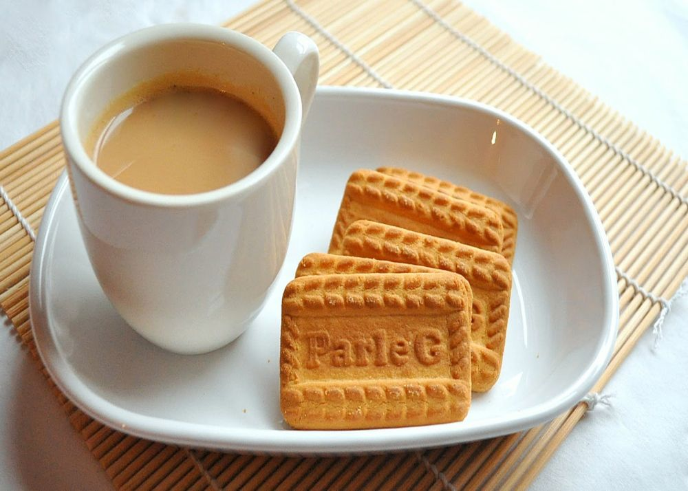 Chai with biscuits
