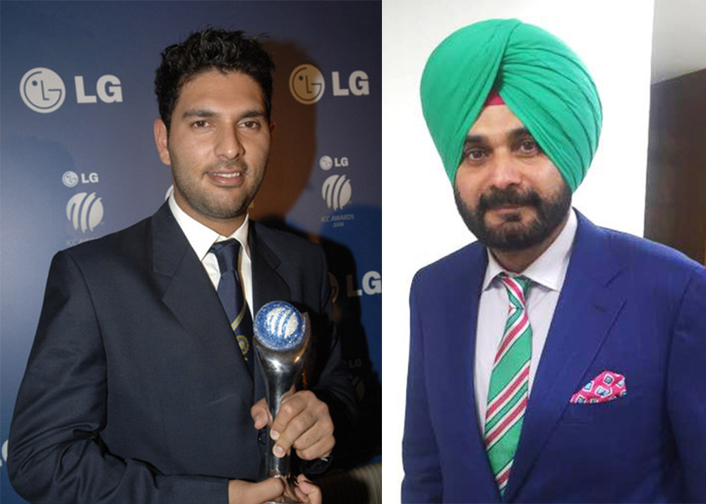 Yuvraj Singh and Navjot Singh SIddhu