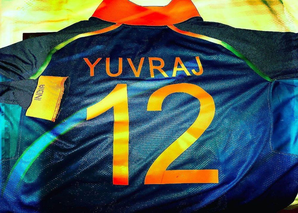 yuvraj singh jersey number
