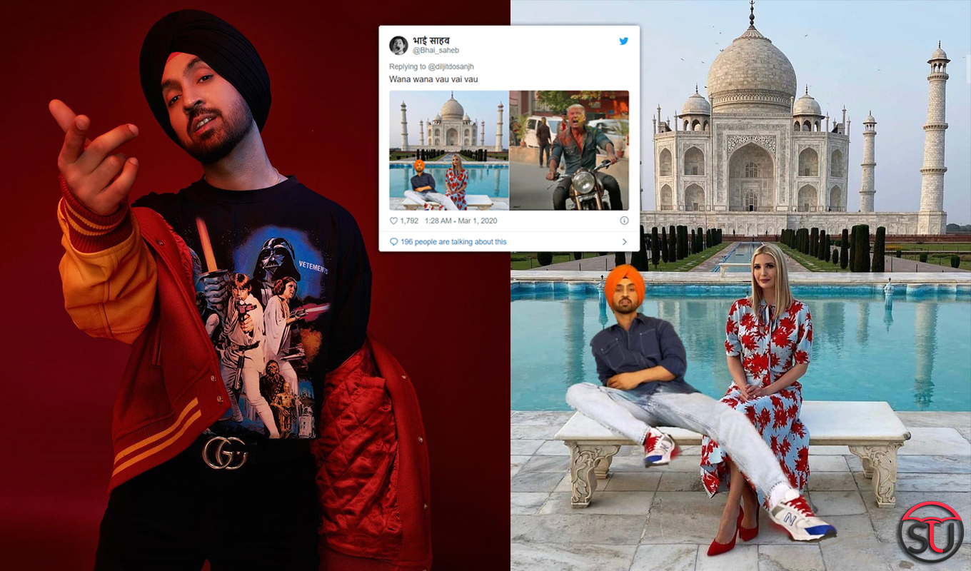 Diljit Photoshopped Ivanka Trump S Taj Picture Her Reply Is Winning Hearts On The Internet