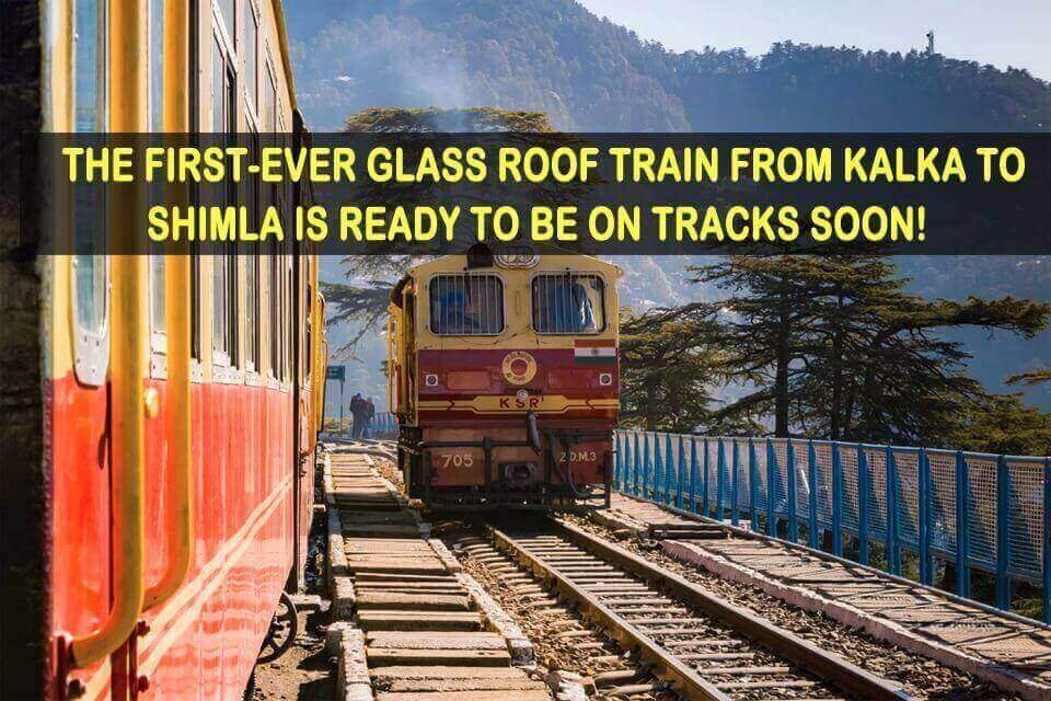 First-Ever Glass Roof Train from kalka to shimla