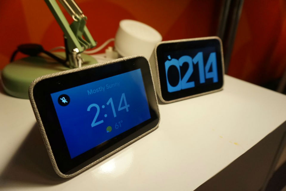 Google and Lenovo smart alarm clock