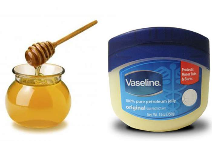 Honey and vaseline mixture