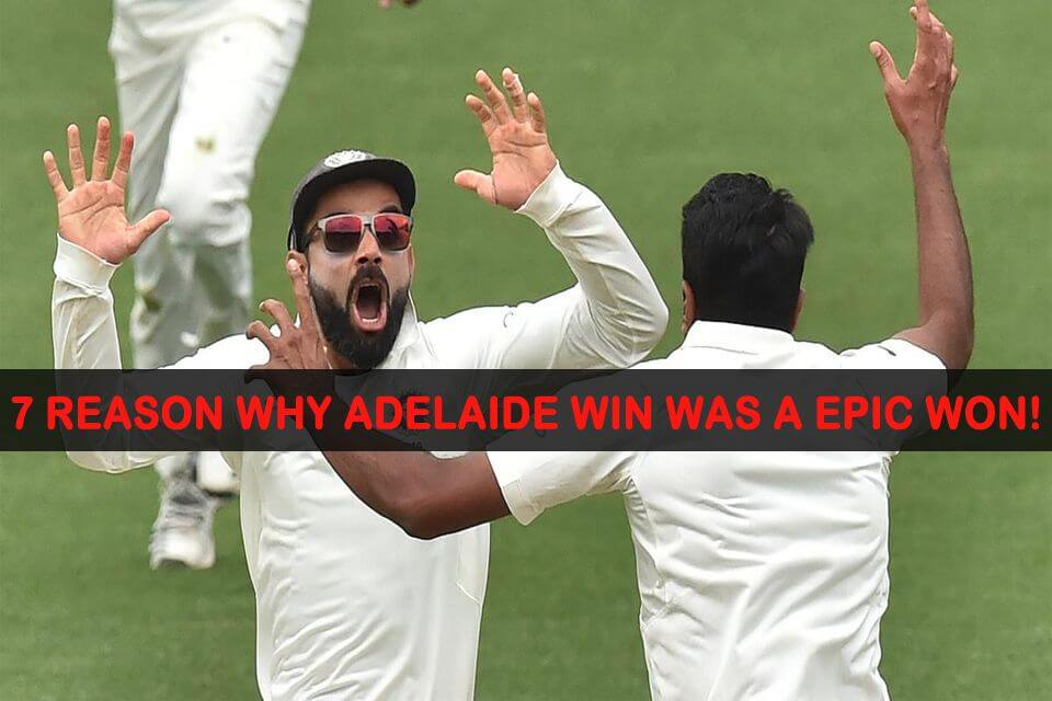 India Adelaide Win
