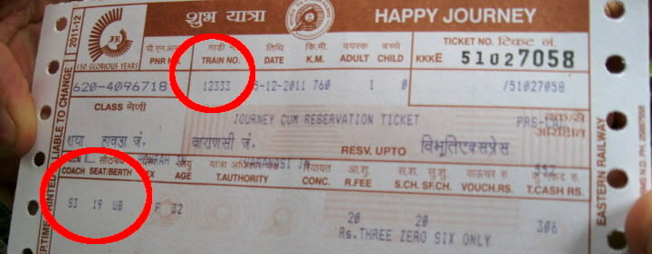Meaning Of Numbers On Indian Railway Tickets