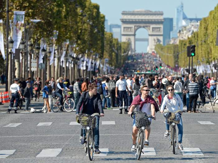 Paris car free cities