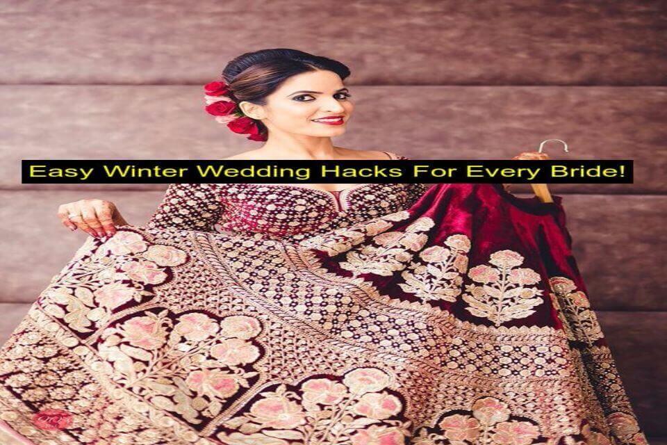 Simple Winter Wedding Hacks For brides