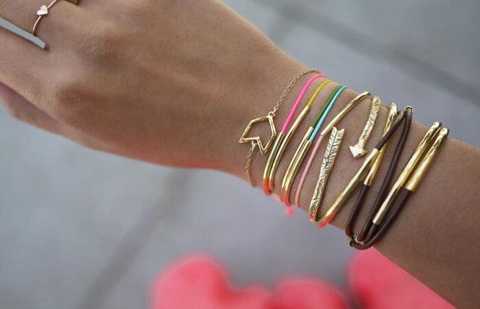 vivid color bracelet