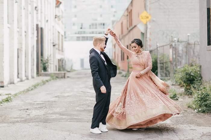 brides wearig sneakers