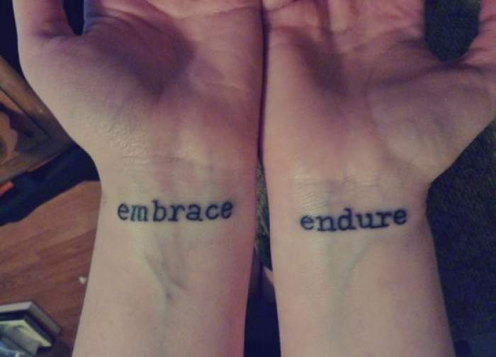 embrace and endure tattoo