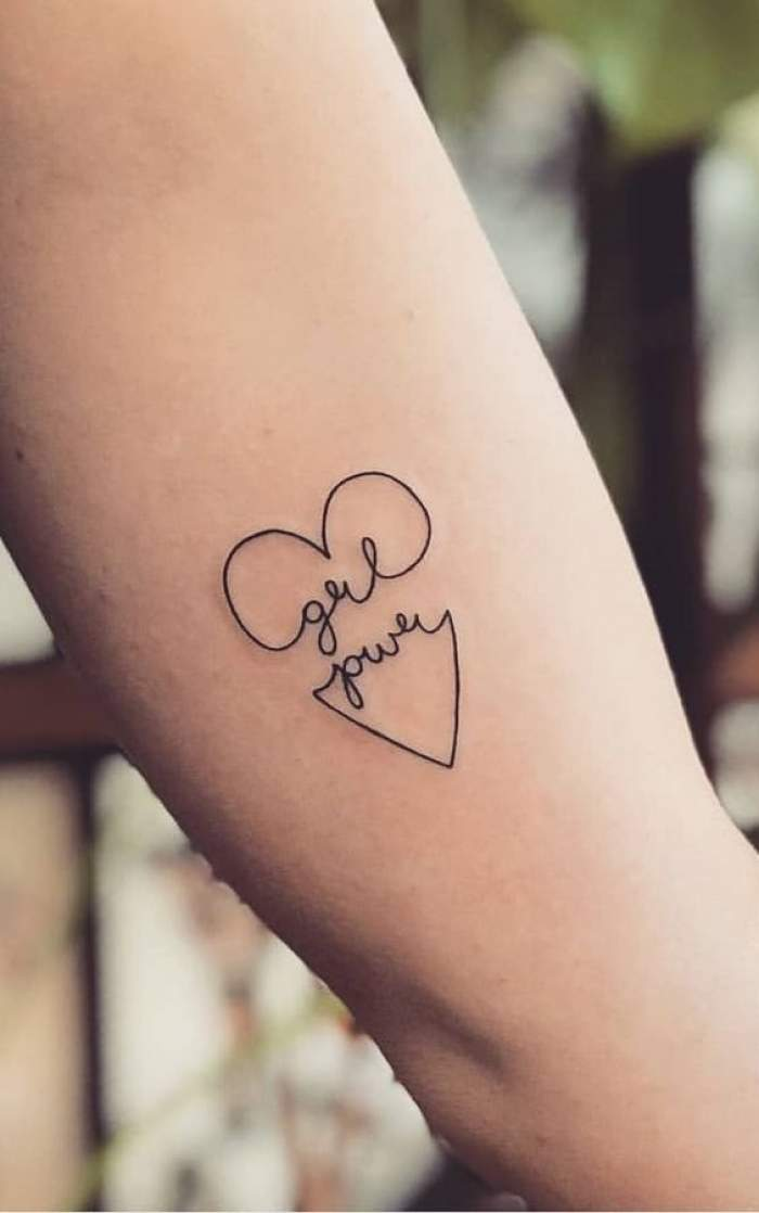 girl power tattoo
