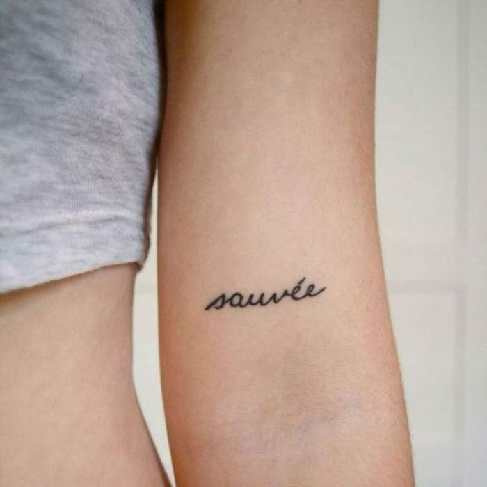 save yourself or others tattoo