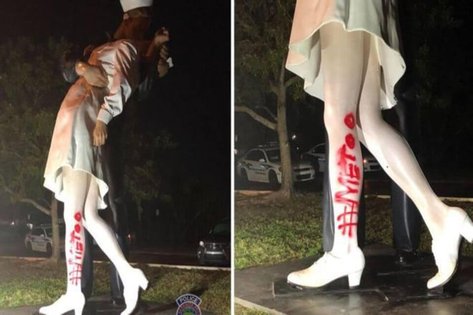 statue vandalised