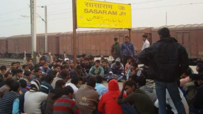 students preparing for exam at sasaram
